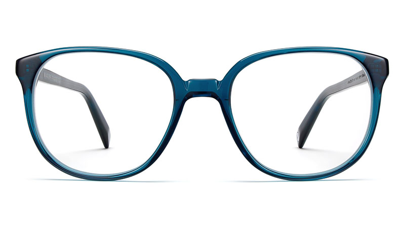 Warby Parker Eugene Narrow Glasses in Adriatic Crystal $95