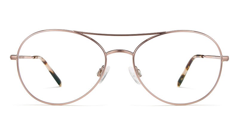Warby Parker Greer Glasses in Lilac Silver $145