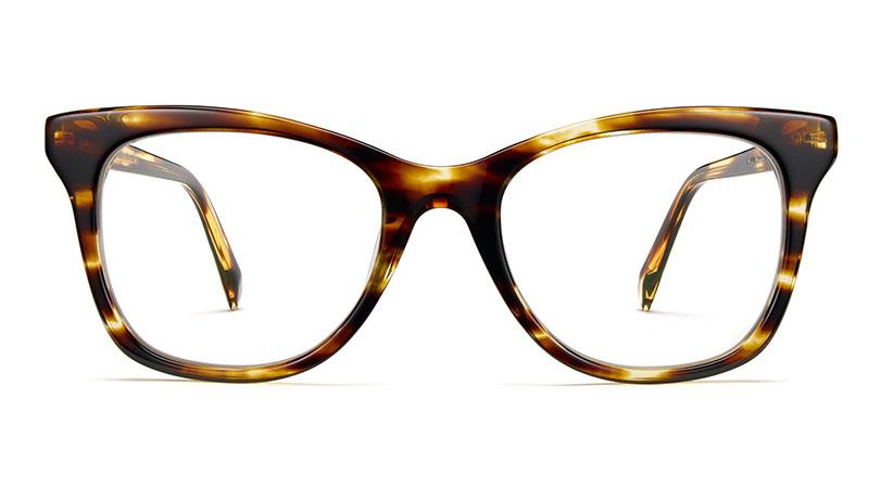 Warby Parker Hallie Glasses in Striped Sassafras $95