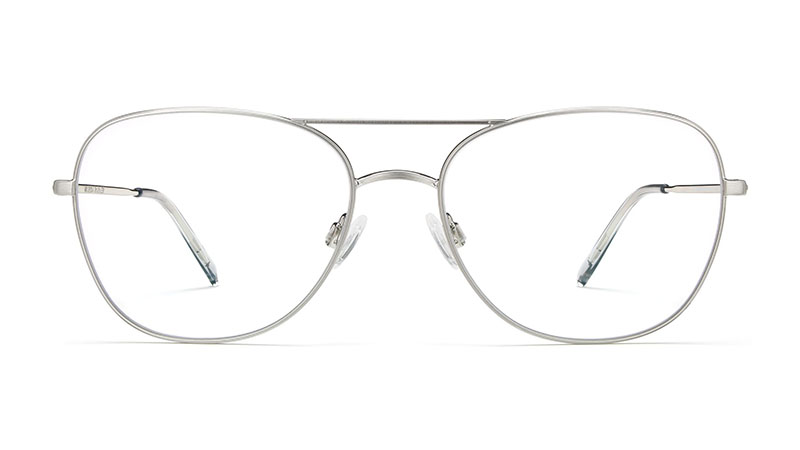 Warby Parker Patterson Glasses in Antique Silver $145