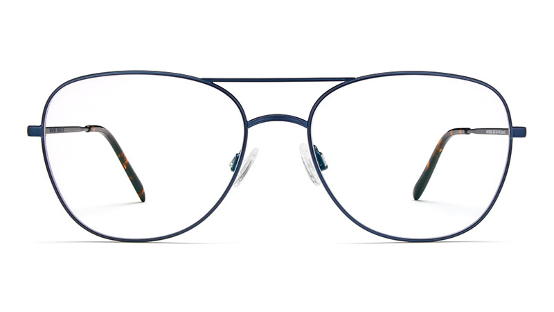 Warby Parker Patterson Glasses in Brushed Navy $145