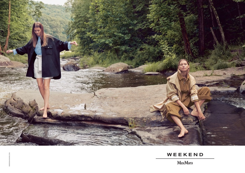 Myrthe Bolt and Hana Jirickova star in Weekend Max Mara spring-summer 2019 campaign