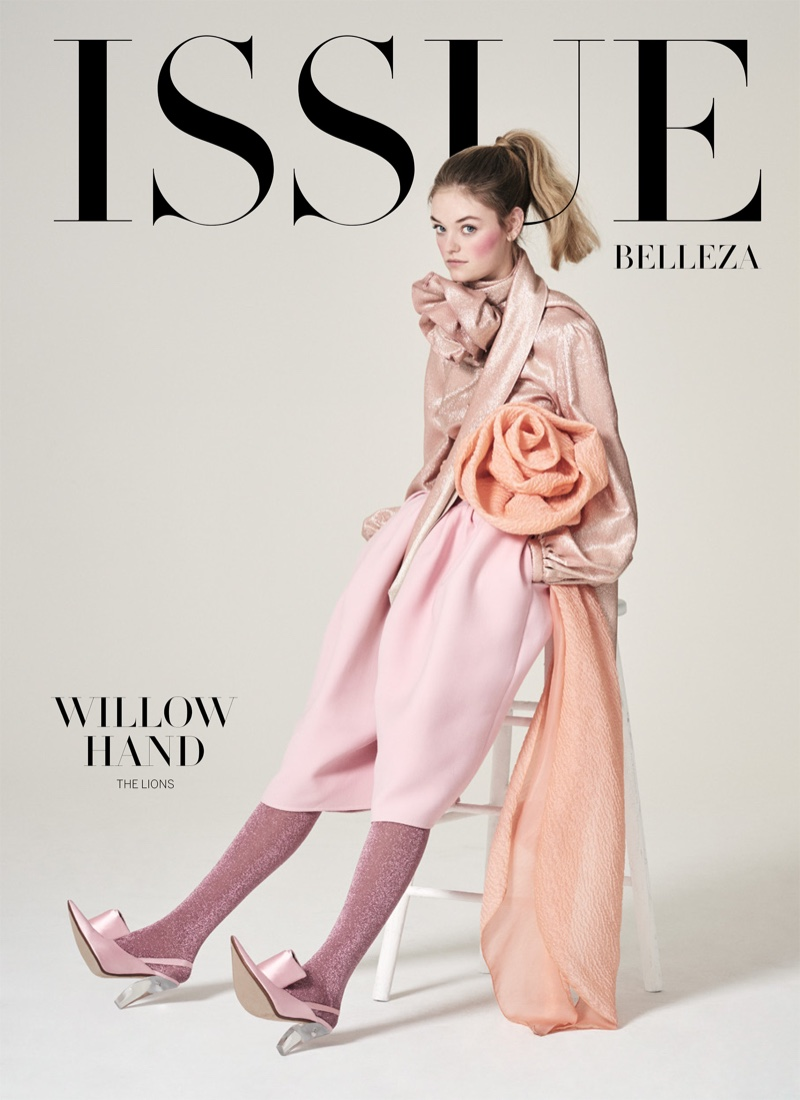 Willow Hand Poses in Romantic Looks for Issue Magazine