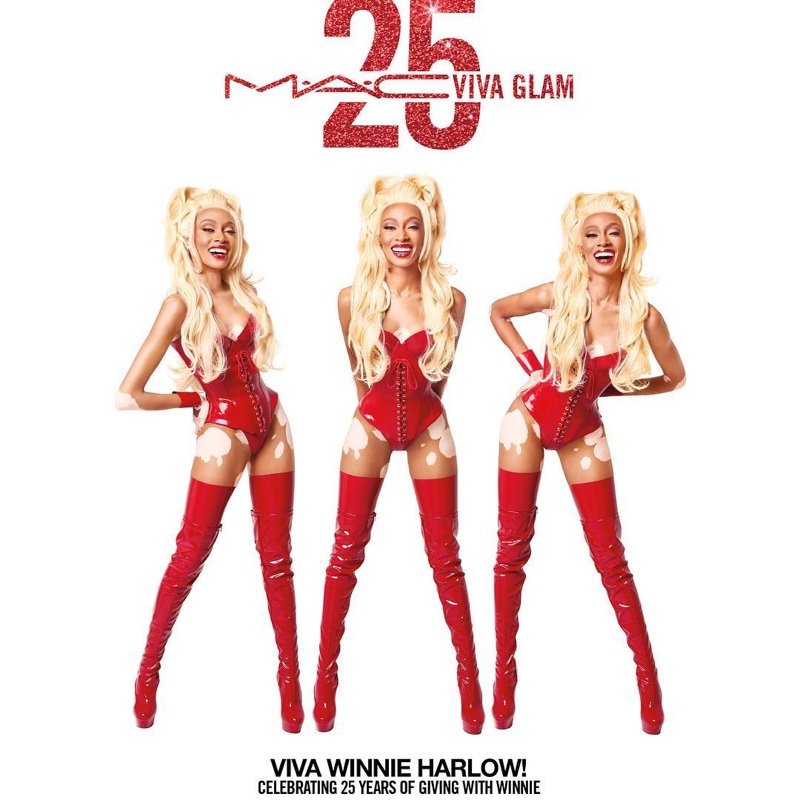 Winnie Harlow stars in MAC Cosmetics Viva Glam 25th Anniversary campaign