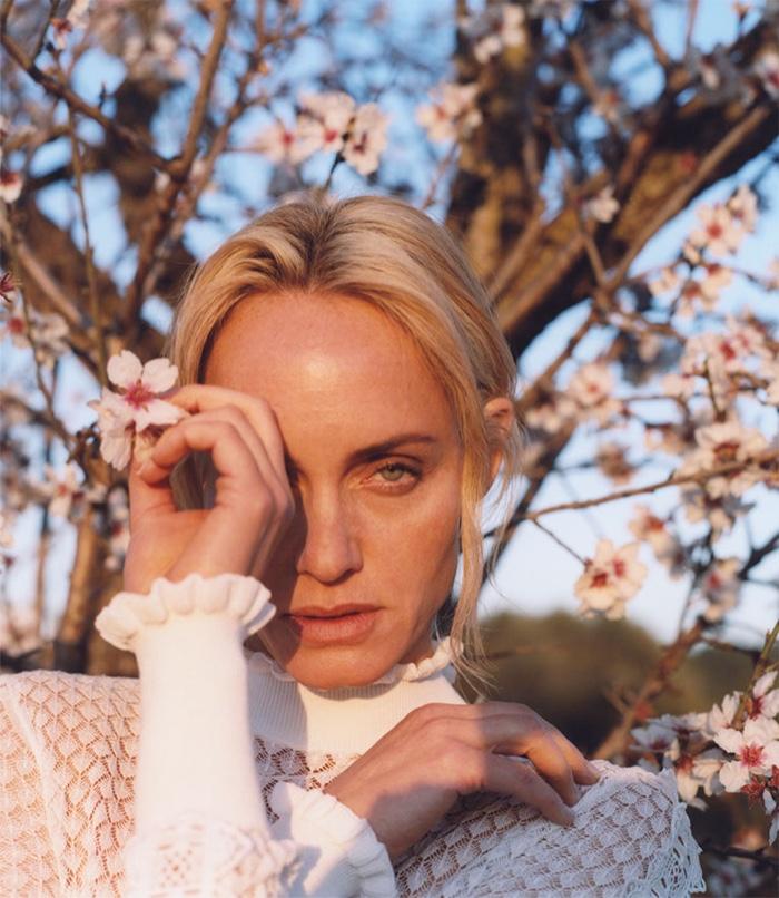 Amber Valletta stars in Zara Chasing the Light spring-summer 2019 lookbook