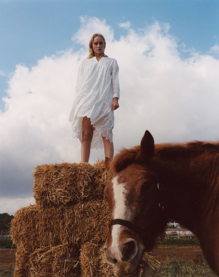 Zara features white outfits in Chasing the Light spring-summer 2019 lookbook