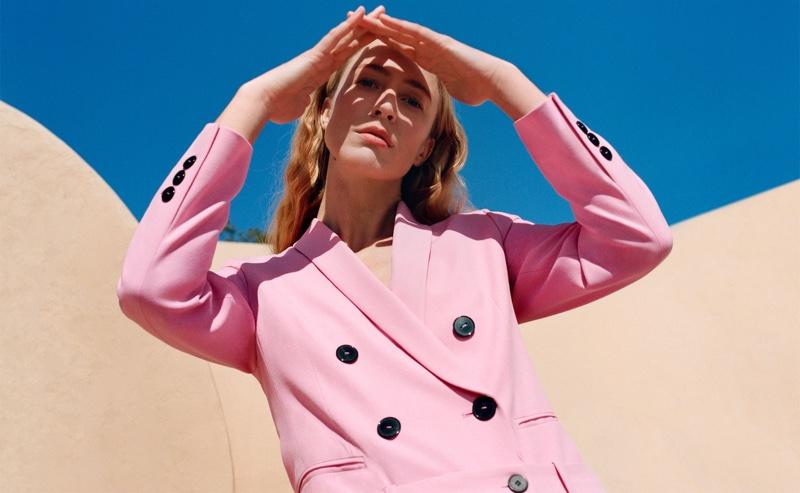Raquel Zimmermann stars in Zara The Woman Suit spring-summer 2019 lookbook