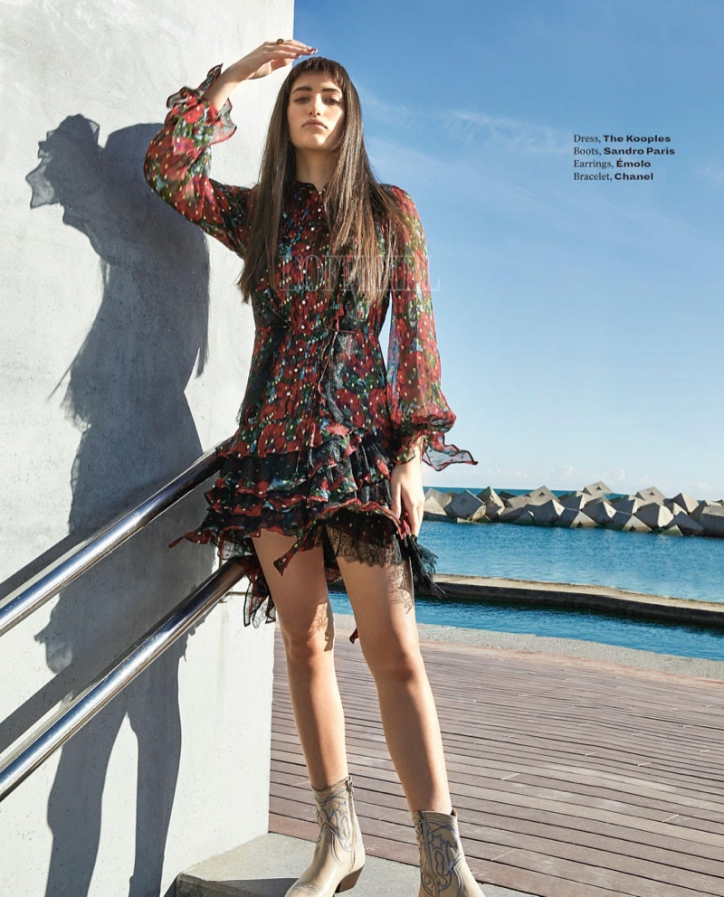 Alba Lackner Wears Statement Styles for L'Officiel India