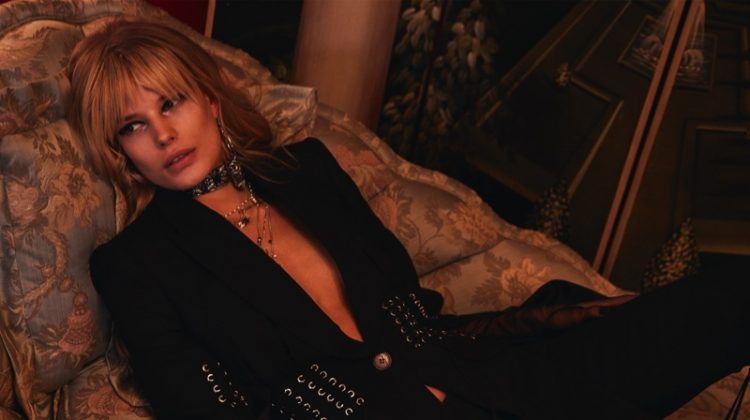 Alena Blohm Poses in All-Black Looks for Marie Claire China