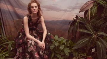 Alexina Graham Embraces Floral Fashion in Marie Claire Czech