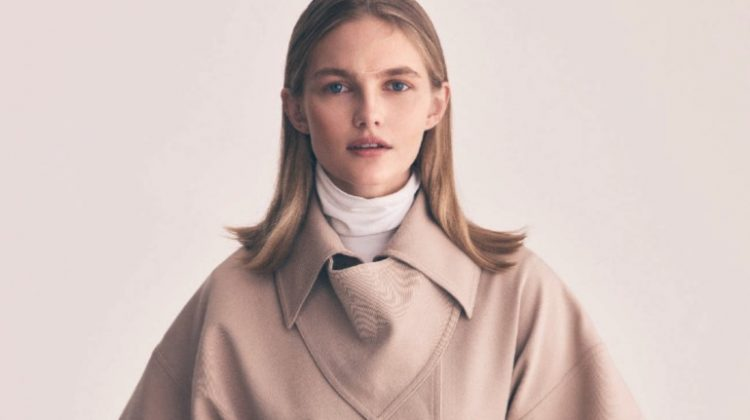 Aneta Pajak Poses in Neutral Fashions for ELLE Italy