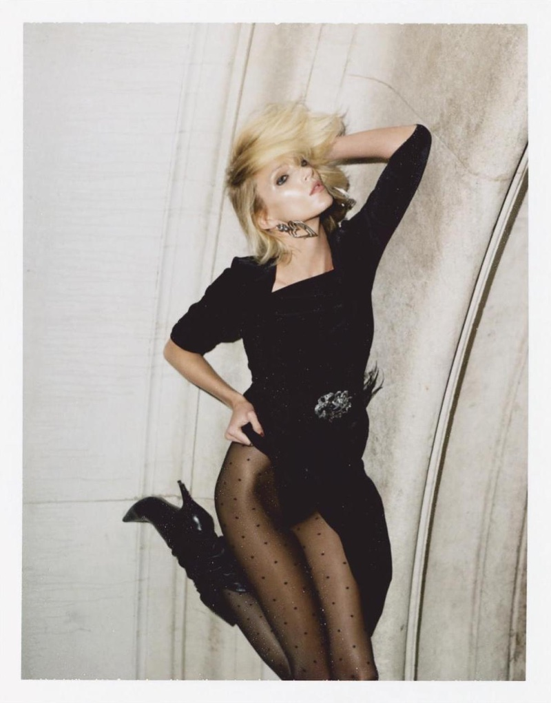 Anja Rubik Poses in Dark Fashions for Vogue Paris