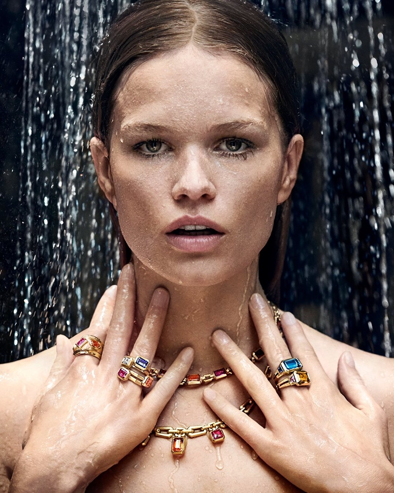 Model Anna Ewers poses in Novella collection from David Yurman