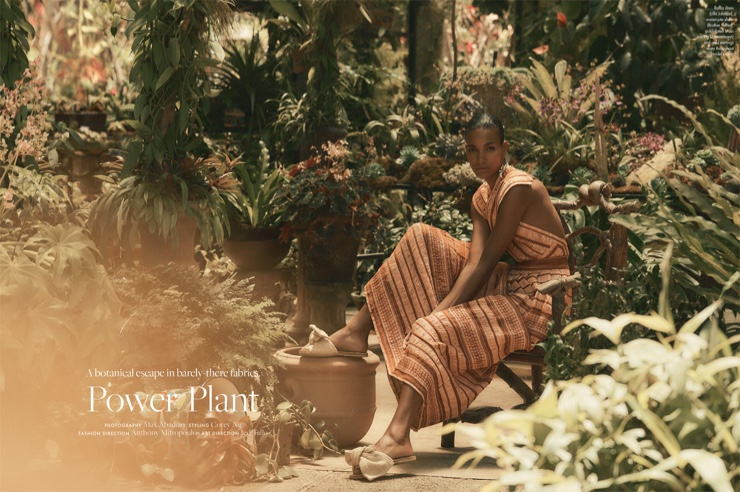 Arlenis Sosa Wears Tropical Styles for ELLE Canada