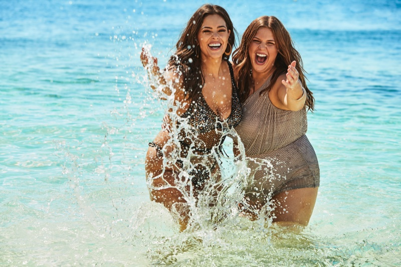 All smiles, Ashley and Abigail Graham appear in Swimsuits For All campaign