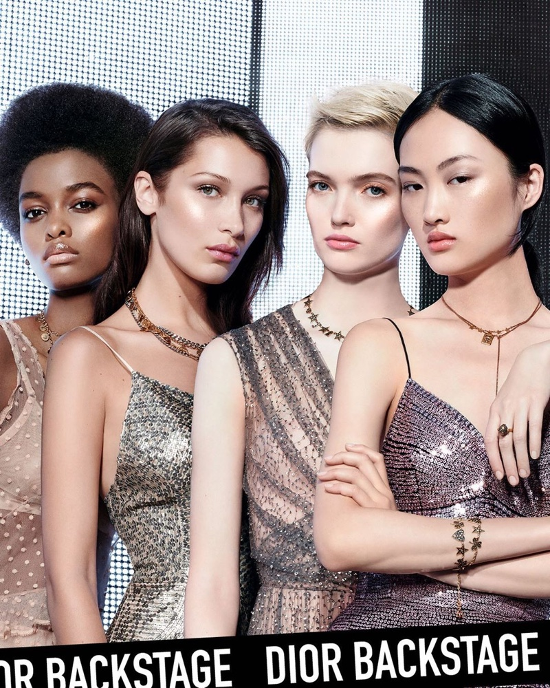Model Bella Hadid joins Ruth Bell, Jing Wen and Blesnya Minher for Dior Backstage foundation campaign