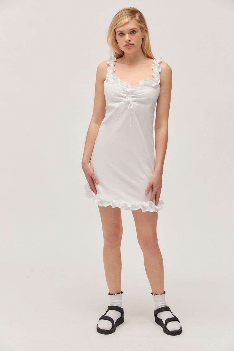 Betsey Johnson x UO Cinched Ruffle Mini Dress $79