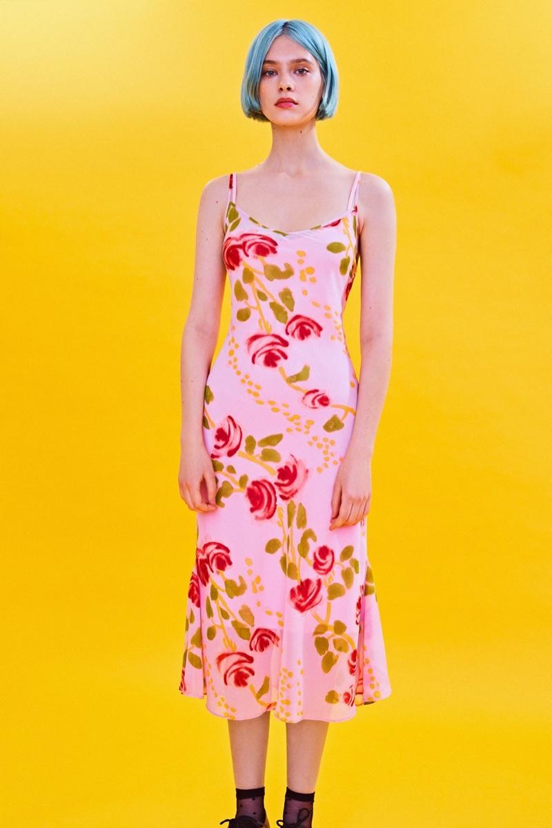Betsey Johnson x UO Floral Slip Midi Dress $89