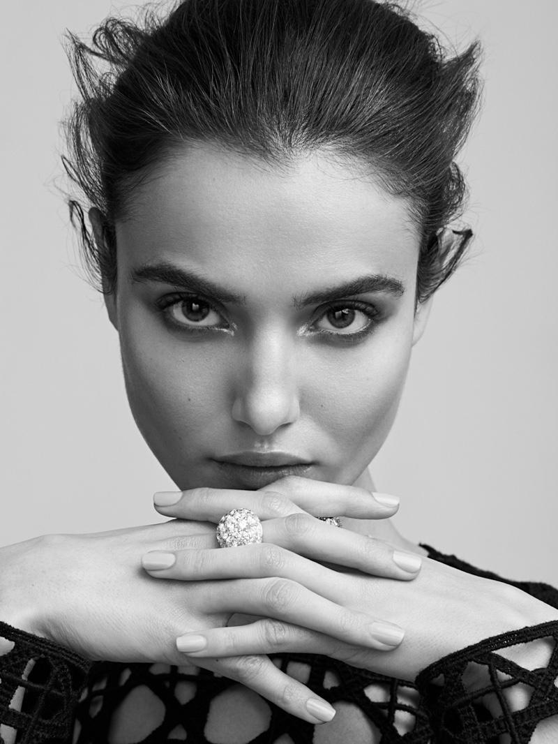 Blanca Padilla Wears Monochrome Style for Harper's Bazaar Kazakhstan