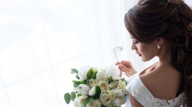 Bride White Dress Wedding Bouquet