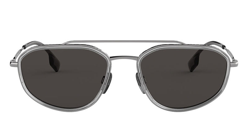 Burberry BE3106 Sunglasses in Grey with Grey Lenses $245