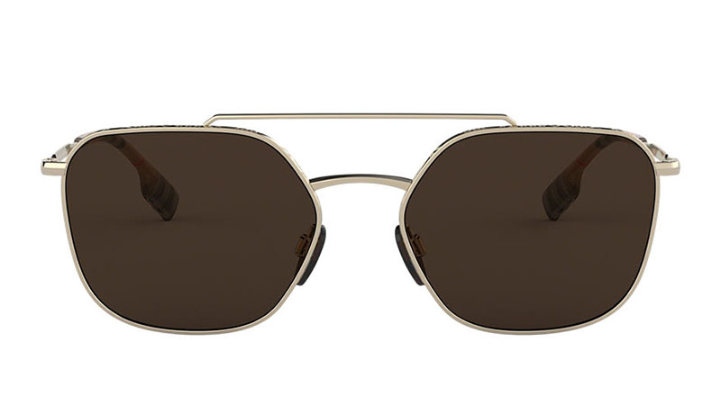 Burberry BE3107 Sunglasses in Gold with Brown Lenses $220