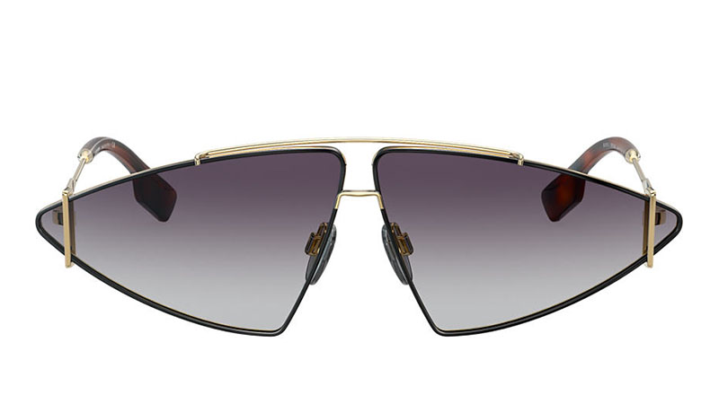 Burberry BE3111 Sunglasses in Gold with Blue Lenses $295
