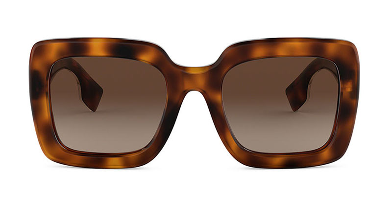 Burberry BE4284 Sunglasses in Tortoise with Brown Lenses $270