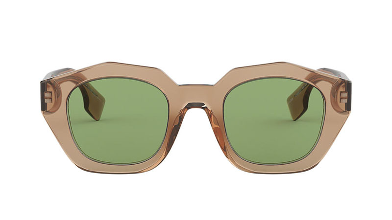 Burberry BE4288 Sunglasses in Brown with Green Lenses $245