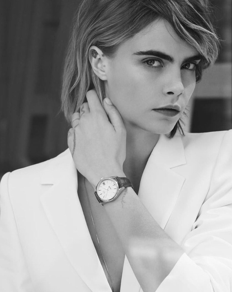 Cara Delevingne has been the face of Tag Heuer since 2015