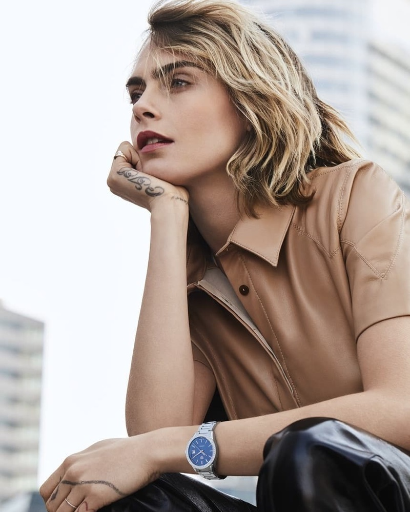 Tag Heuer unveils an updated version of its Carrera Lady watch worn by Cara Delevingne