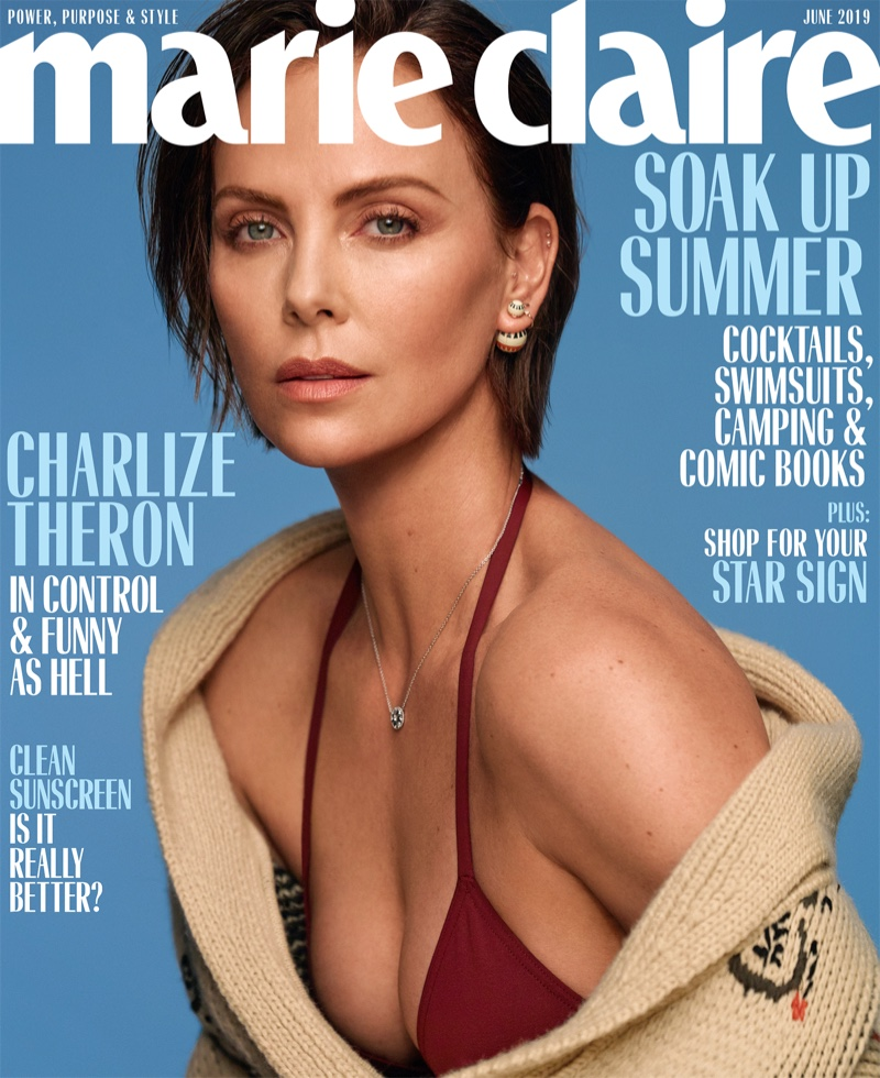 Charlize Theron on Marie Claire US June 2019 Cover