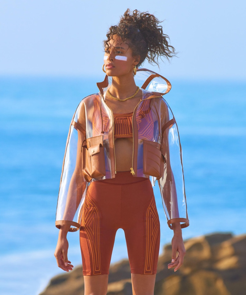 Cindy Bruna Gets Sporty Glam on the Beach for Vogue Japan