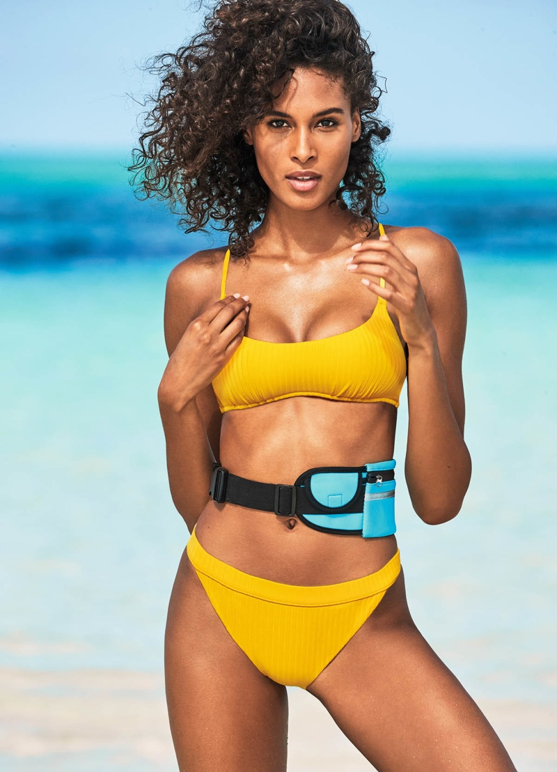 Cindy Bruna is a ray of sunshine in Calzedonia swim 2019 campaign