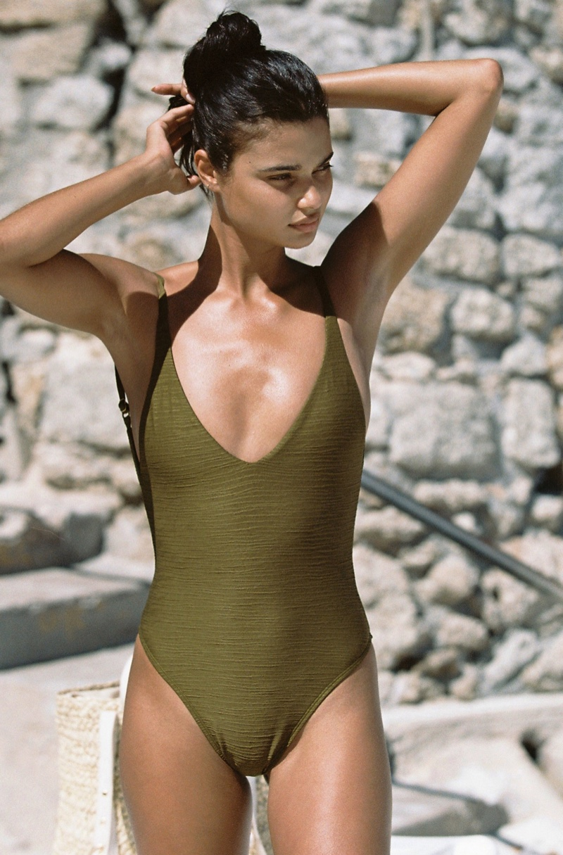 Flaunting her figure, Daniela Braga models L* Space one-piece swimsuit
