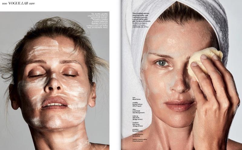 Daniela Pestova Tries On Cutting-Edge Beauty for Vogue Czechoslovakia