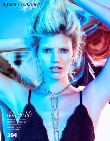 Devon Windsor Takes the Spotlight for Vogue Taiwan Beauty