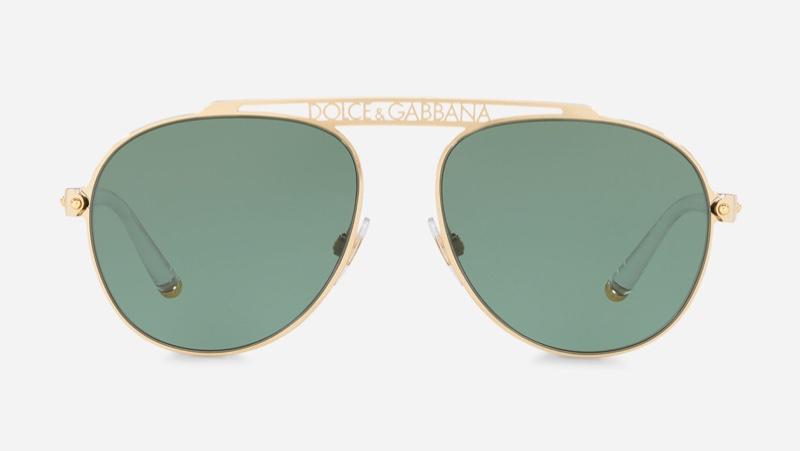 Dolce & Gabbana #DGLogo Pilot Sunglasses $235