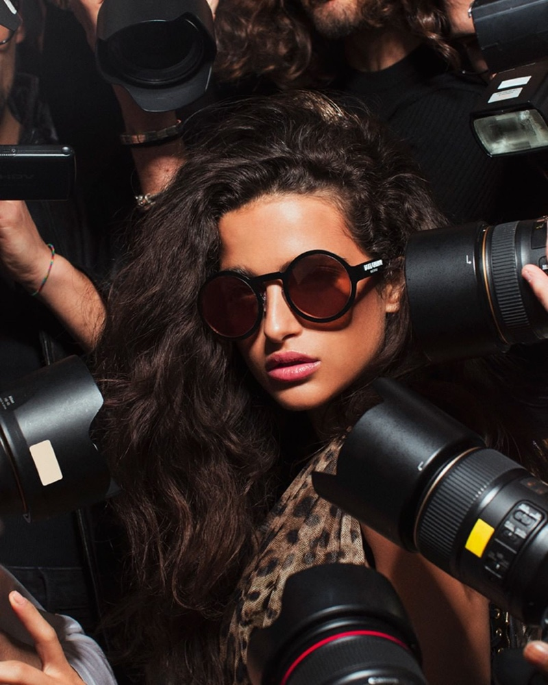 Dolce & Gabbana features a paparazzi theme with #DGLogo Eyewear campaign
