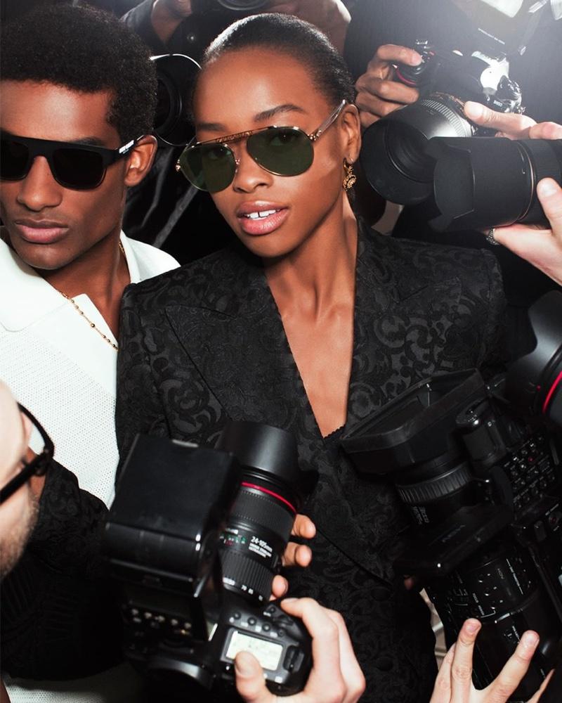 Anne Barreto fronts Dolce & Gabbana #DGLogo eyewear campaign