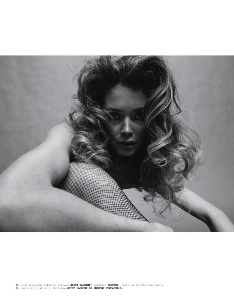 Doutzen Kroes Enchants in Black and White for Vogue Poland