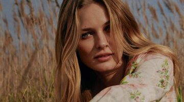 Edita Vilkeviciute poses in Brock x MyTheresa capsule collection
