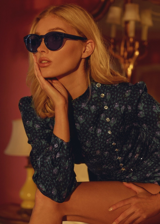Serving side profile, Elsa Hosk appears in Chimi Eyewear campaign