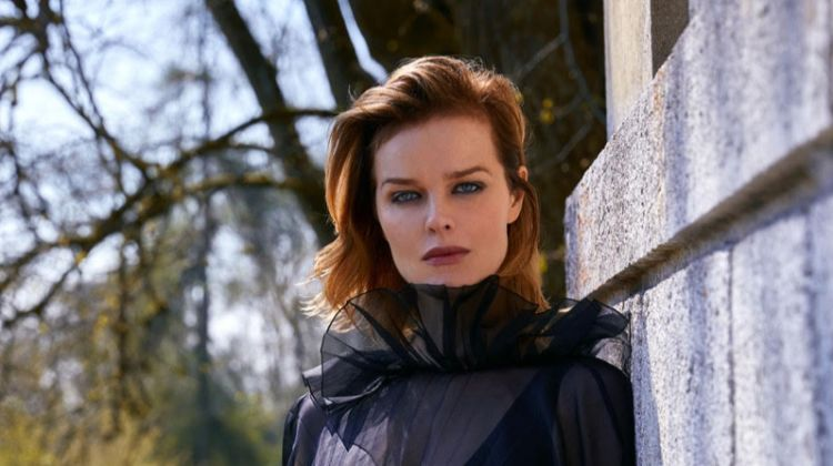Eva Herzigova Poses in Elegant Ensembles for ELLE Turkey