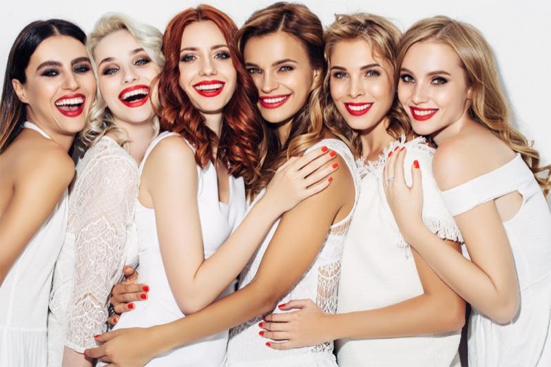 Smiling Beautiful Models