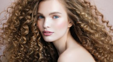 Beautiful Model Curly Hair