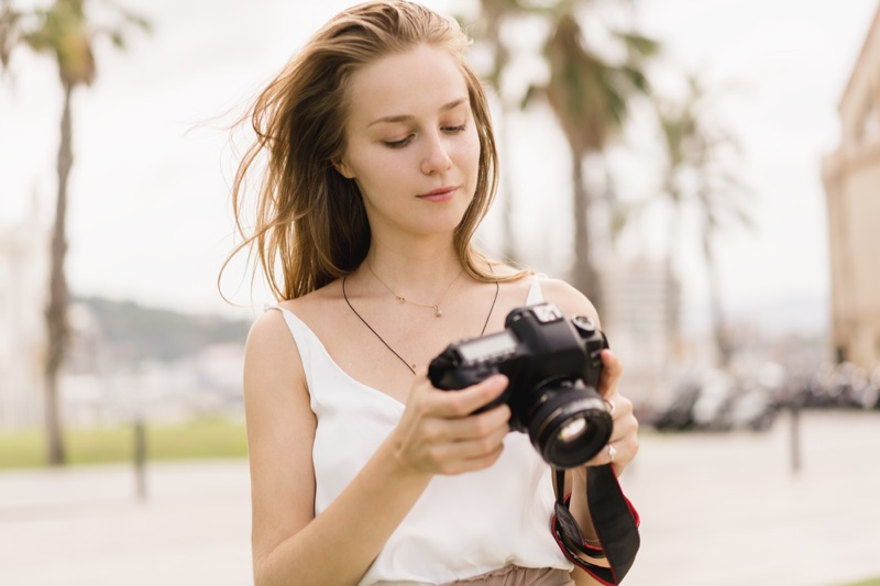 Female Photographer Camera Attractive