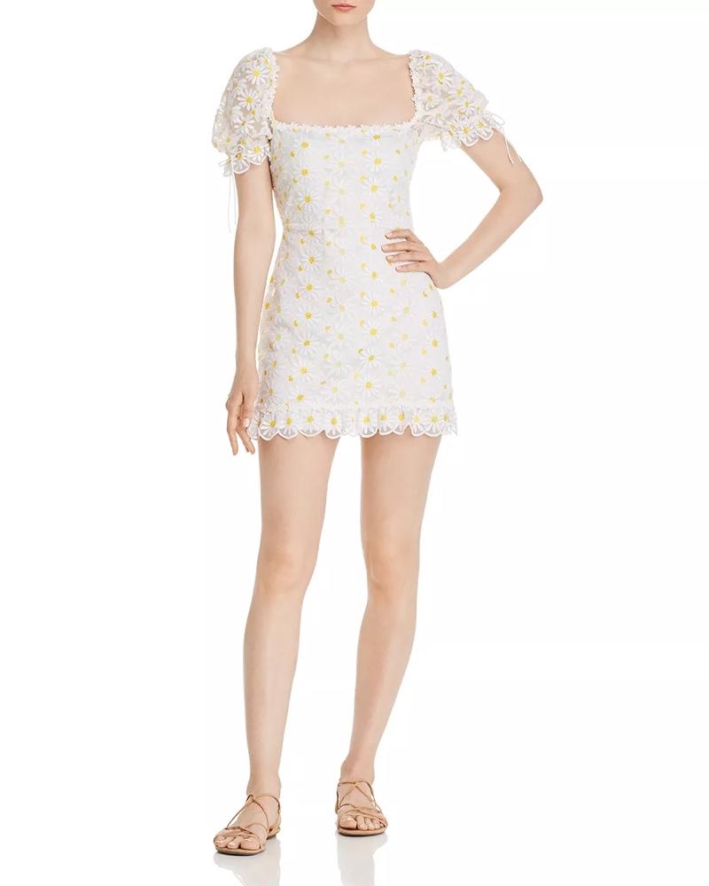 For Love & Lemons Brûlée Daisy Mini Dress $277