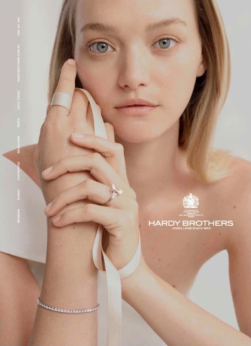 Gemma Ward stars in Hardy Brothers Jewellers 2019 Wedding Collection campaign