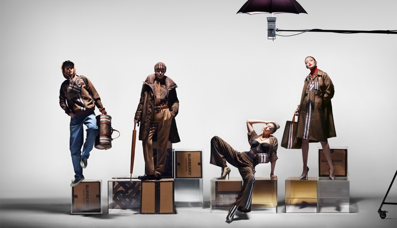 An image from the Burberry Monogram Collection advertising campaign